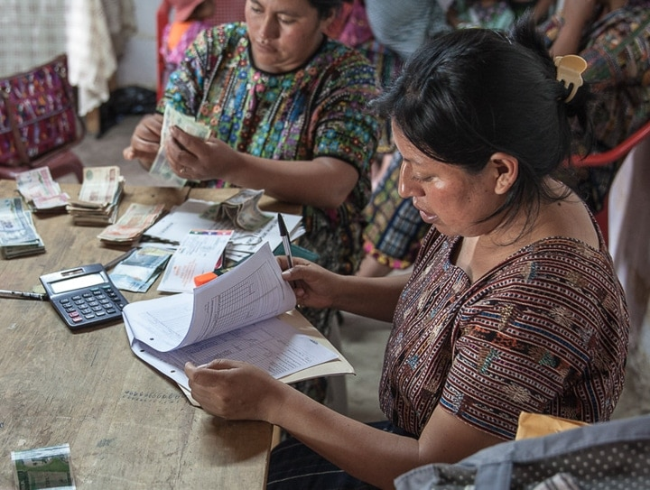 Women must form Trust Banks in order to secure microcredit in Guatemala. This form of group lending provides social capital in addition to financial capital.