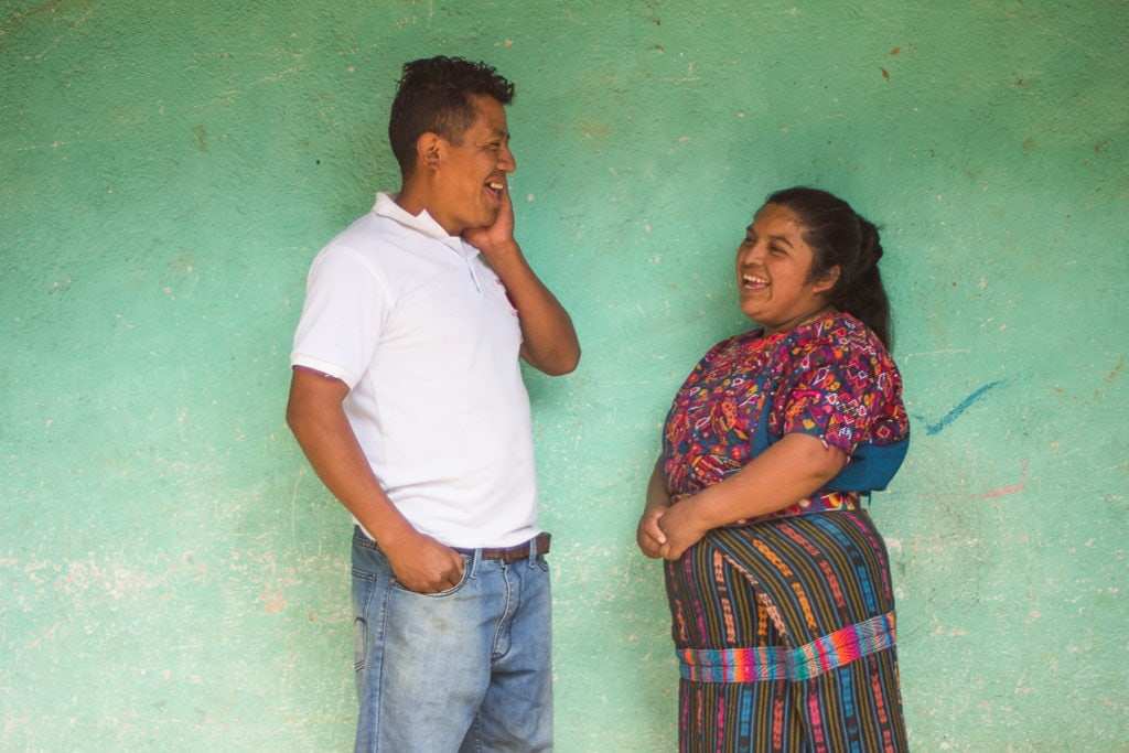 a woman and her husband in rural Guatemala