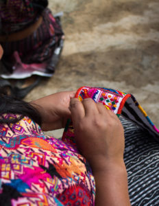 Yolanda's sister is in her cooperative and specializes in embroidering intricate fajas, which are belts women wear with their indigenous dress. It can take a month or more to embroider one faja.