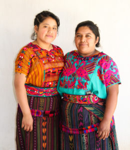 mother and daughter in Guatemala