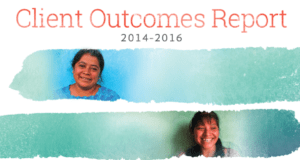 regarding social performance, the cover of 2014-2016 Outcomes Report