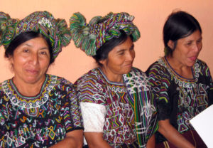 Maya women weave huipiles as a sacred story